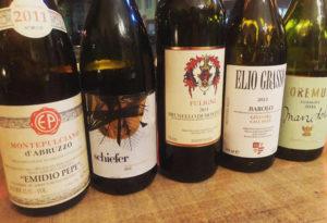 Eine Auswahl von Weinen der Weinbar Rocaille in Düsseldorf-Derendorf